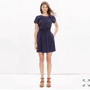 Madewell silk crossback dress fits and stars 00
